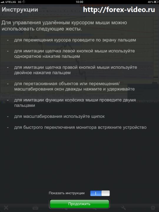 Удаленный доступ к MetaTrader 4 с ipad