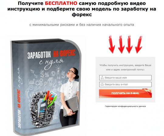 """Страница курса """"Заработок на форекс с НУЛЯ"""""""
