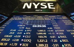 Табло на Нью-Йоркской фондовой бирже