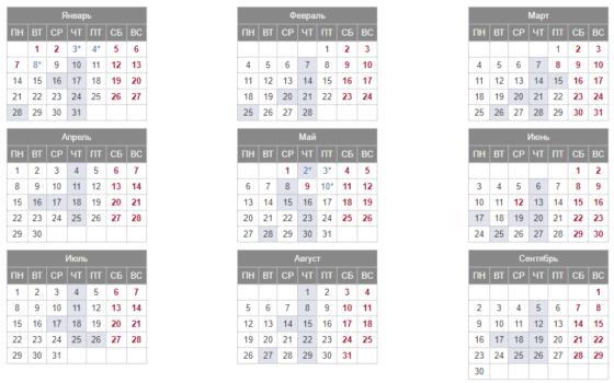 Торговый календарь ММВБ