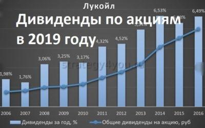 дивиденды по акциям лукойл в 2019