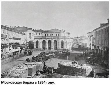 появление московской фондовой биржи