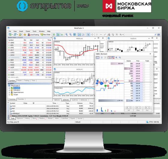 Открытие Брокер» запускает MetaTrader 5 на фондовом рынке