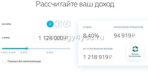 банк открытие калькулятор