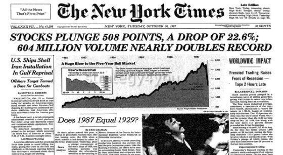 Черный понедельник - 19 октябрь 1987