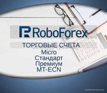 робофорекс виды торговых счетов