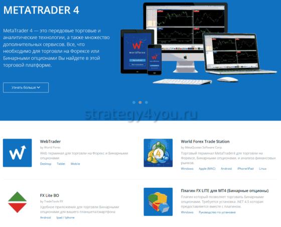 торговая платформа от форекс-брокера World Forex