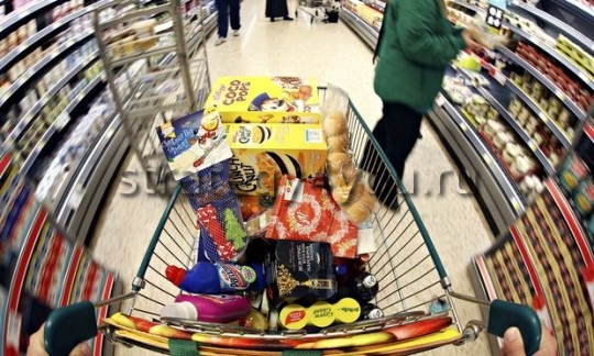 Christmas Shoppers Inside A Morrisons Supermarket
