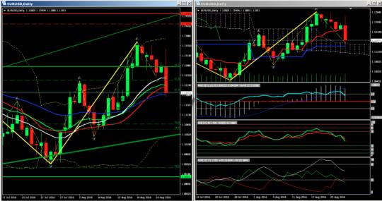 Сигналы евро-доллар D1