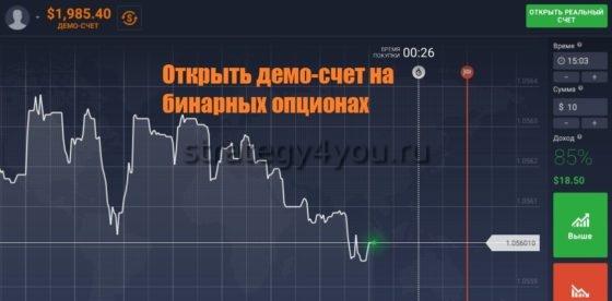 демо-счет бинарных опционов